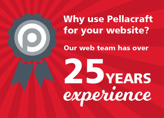 Why use Pellacraft for your website? Our web team has over 25 years experience.