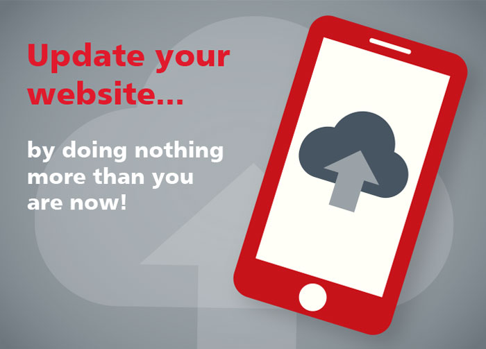Update your website. By doing nothing more than you are now